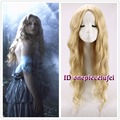 free shipping Alice in Wonderland Alice Wig Women Long blonde Curly Cosplay Wig +free wig cap