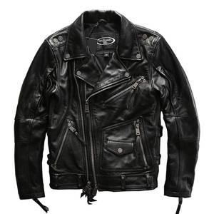 Jacket Big-Size Casual-Cowhide Mens High-Quality HA-101 Cow-Skin European Super-Genuine