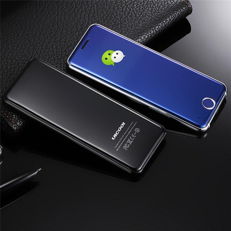 Original ULCOOL V66 Mobile Phone 1.67inch Dustproof Shockproof phone Ultrathin Card Metal Body Bluetooth 2.0 Dialer MP3 Dual SIM