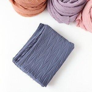 Image 5 - 教徒ヘッドスカーフしわソリッドカラー品質スカーフの女性の綿のしわラップバブルショール