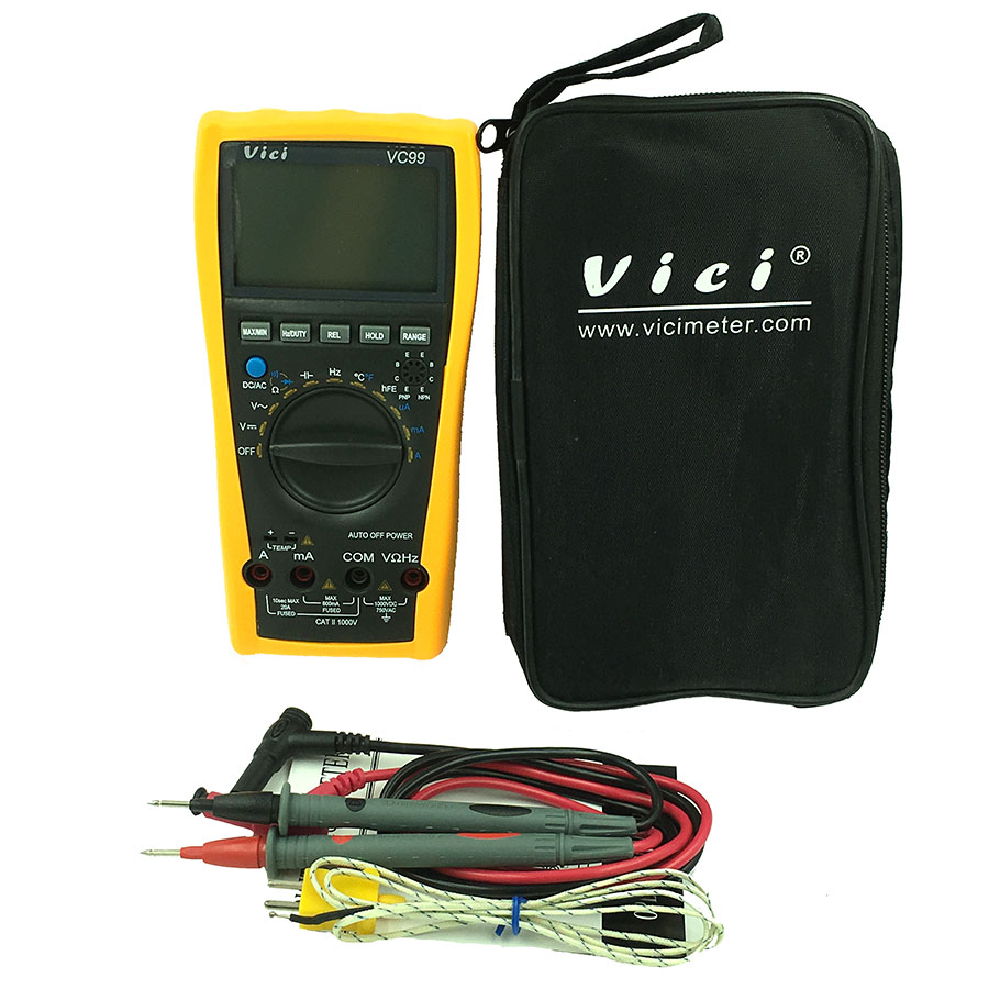 High quality VC99 3 5/6 digital multimeter DC AC voltage current Resistance Capacitance tester voltmeter ammeter auto range auto digital multimeter 6000counts backlight ac dc ammeter voltmeter transform ohm frequency capacitance temperature meter xj23
