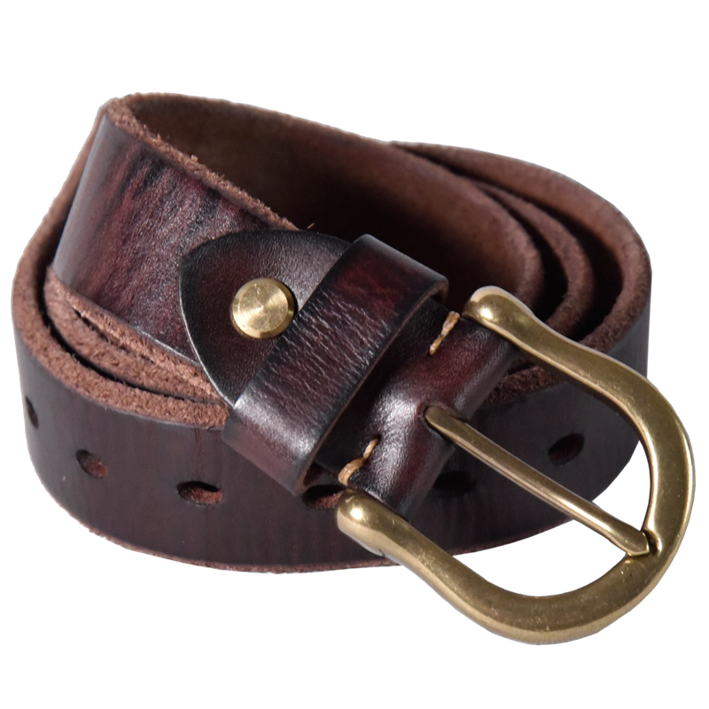 Ultra thick High Quality Cowskin Leather Luxury Belt Menswear System Thickening Cowhide Man Leisure Time Jeans Copper Buckle in Men 39 s Belts from Apparel Accessories