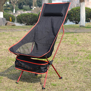 Outdoor Ultralight Foldable Chair with Storage Bag for Camping Fishing EDF88