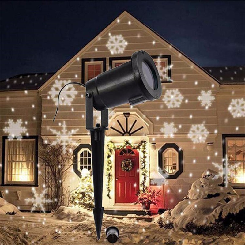 LED Snowflake Effect Projector Lights Outdoor Christmas Light Garden outdoor Holiday Xmas Tree Decoration Landscape Lighting waterproof projector lamps rgbw snowflake led stagelights outdoor indoor decor spotlights for christmas party holiday decoration