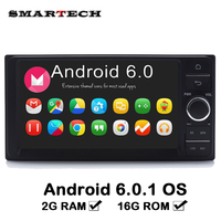 SMARTECH 2 Din 7 Inch Universal For Toyota Car Radio GPS Navigation Stereo Audio Player Android 6.0 Car Tap PC Tablet 2GB RAM