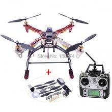 Xiangtat HJ F450 2.4G 6CH 4 sumbu Bingkai F450 Kit Flysky T6 30A ESC A2212 1000KV w/Landing Gear Skid RC Quadcopter Drone Set