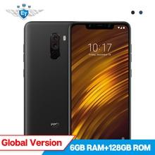 Xiaomi POCOPHONE F1 POCO F1 6 GB 128 GB Küresel Sürüm Cep Telefonu Snapdragon 845 6.18 ''Tam Ekran 20MP ön Kamera LiquidCool