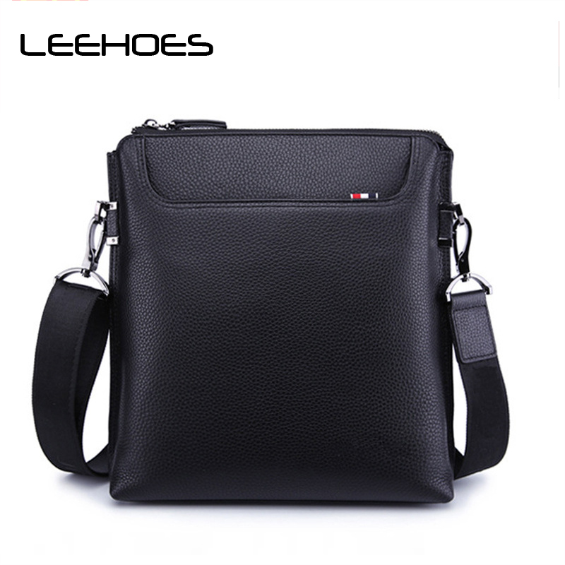 Men's Leather Bag Genuine Leather Men Bag Male Shoulder Crossbody Bags Casual Handbags Small Briecase Flap Men Messenger Bags genuine cow leather messenger bags flap casual men solid handbags famous brand small male shoulder crossbody bags