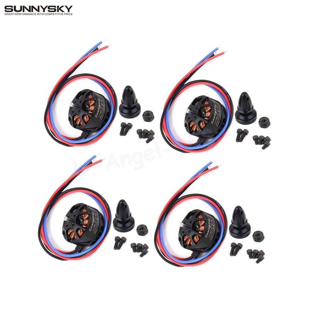 4set lot SUNNYSKY X3108S 720KV 325W 22A 30S 1kg Brushless Motor Efficient Shaft Disk Motor for