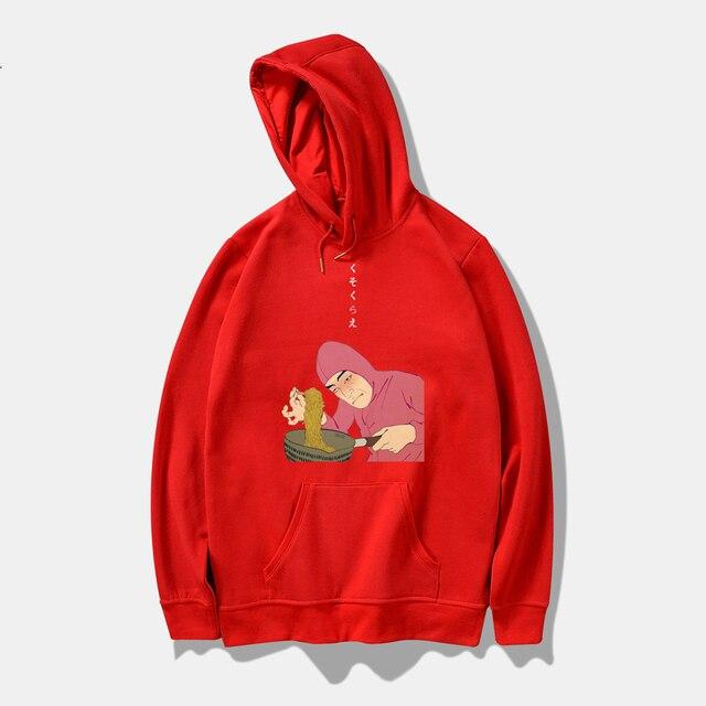 Rosa Guy Ramen König VAPORWAVE Winter Hoodies Männer Sweatshirts Mit Kapuze Pullover Hipster Marke Harajuku Lustige Sweatshirt Männer