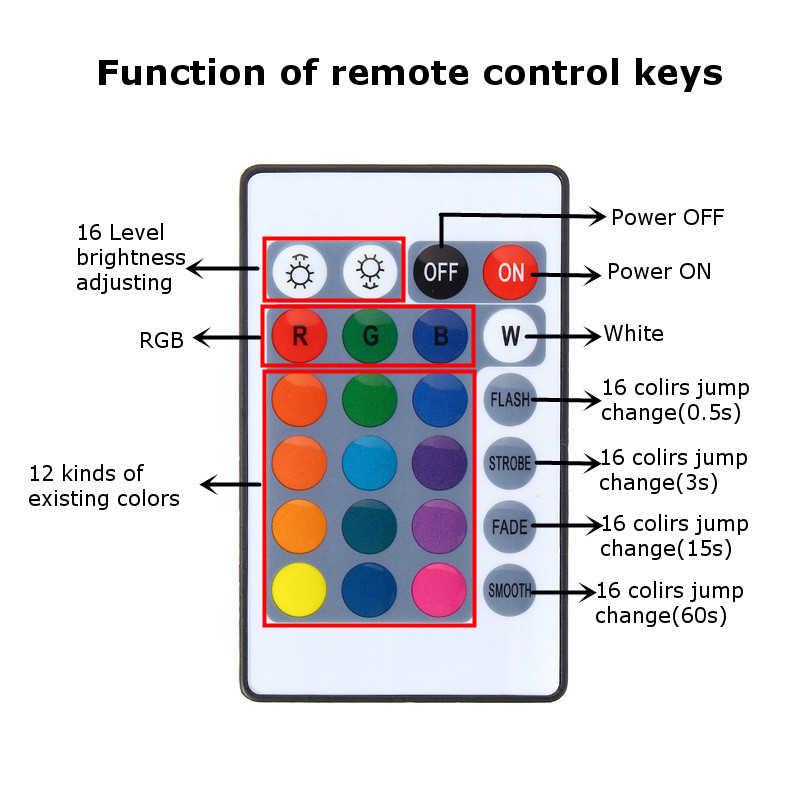 Claite 4 50 Cm SMD 5050 USB LED RGB Strip 5V 60 Đèn LED/M IP20 USB Thanh truyền Hình Đèn Nền Bộ Với Bộ Điều Khiển Từ Xa Sử Dụng Nguồn Điện USB Cáp