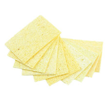 10pcs High Temperature Enduring Condense Electric Welding Soldering Iron Cleaning Sponge YellowHot New Arrival