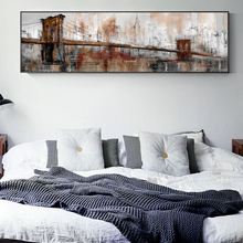 Vintage Bridge Wall Art Canvas Modern City Landscape Paintings On The Print Posters Cuadros Pictures For Living Room