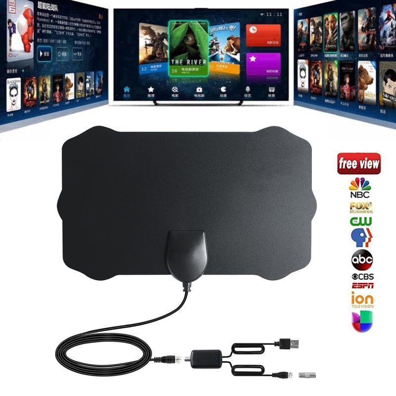 120 millas Antena Digital HDTV interior HD TV Antena con amplificador Booster TV radio Surf zorro Antena HD TV antenas antena