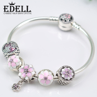 EDELL genuine original 925 sterling silver jewelry,High-end custom, support lettering