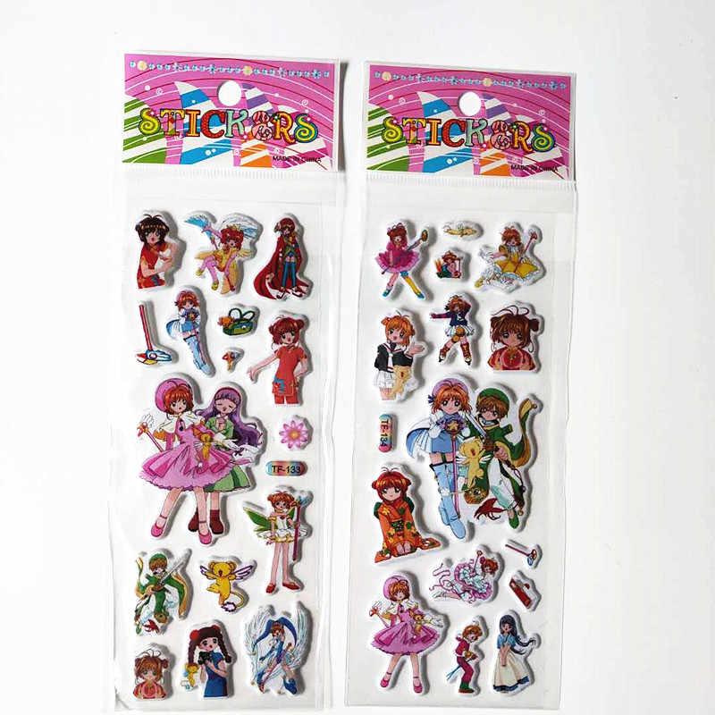 """6 шт. с изображениями мультипликационных персонажей My Little Horse """"Единорог"""" детская одежда, милая Стикеры 3D Пышное животных пони домашнего декора мобильного телефона на машину, игрушки для детей"""