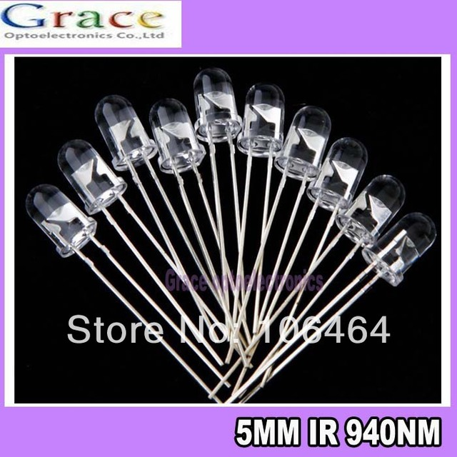 100PCS 5mm 940nm Infrared Emitted LED IR Diode LED FREE SHIPPING