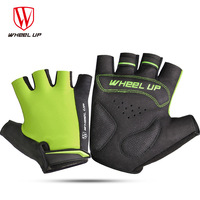 WHEEL UP Cycling Gloves Half Finger Bicycle Gloves Non Slip Anti Skid Soft Breathable Lycra Guantes