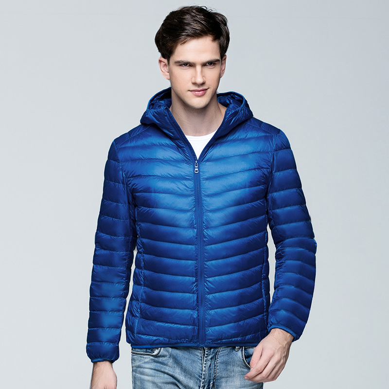 Men's Duck   Down     Coats   Men Canada Male Winter   Coat   Youth Ultra Thin   Down   Jackets Light   Down     Coat   Men's Wear Plus Size B-9593