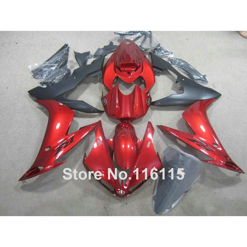 Injection molding hot sale ABS fairing kit for YAMAHA YZF R1 2004 2005 2006 matte black red YZF-R1 04 05 06 fairings set XL85