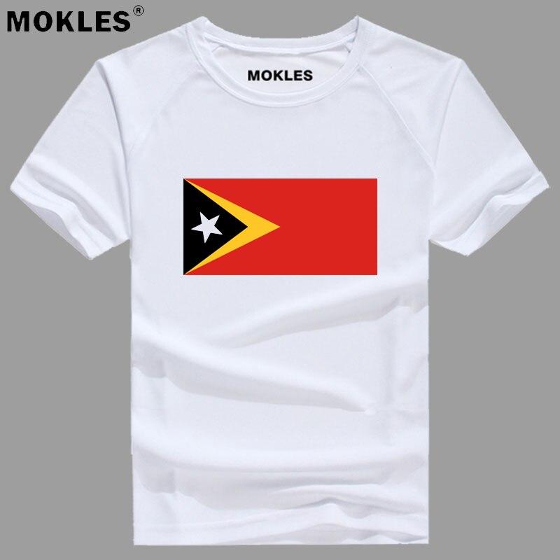 EAST TIMOR t shirt free custom made name number tmp t-shirt nation flag portuguese republic tp leste college print photo clothes