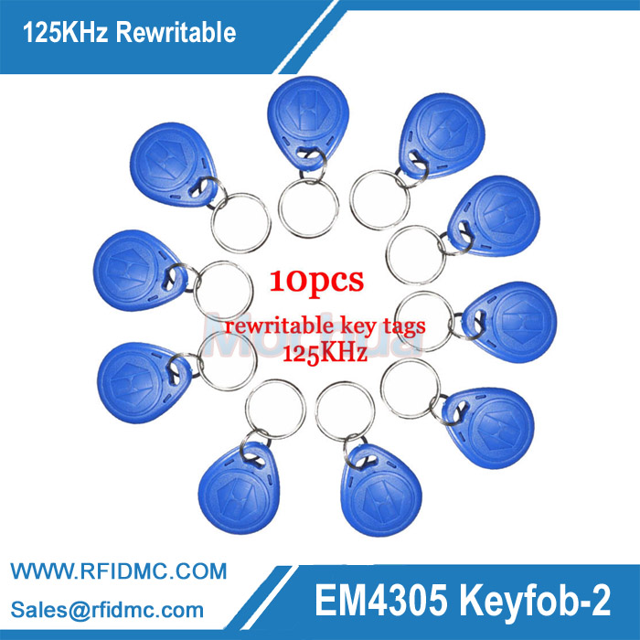 125KHz Rewritable EM4305 ID keyfobs RFID Tag Key Ring Card 125KHZ Proximity Token Access Control Duplicate