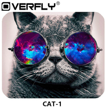 Overfly Mouse Pad Cute Cat Picture Anti-Slip Laptop PC Mice Mat Mouse pads