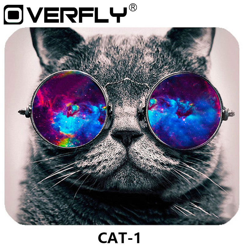 Overfly Mouse Pad Cute Cat Picture Anti-Slip Laptop PC Mice Pad Mat Mouse pads For Optical Laser Mouse Gamer Mousepad 22 18cm universal mouse pad mat precise positioning anti slip rubber mice mat for laptop computer tablet pc optical mouse mat