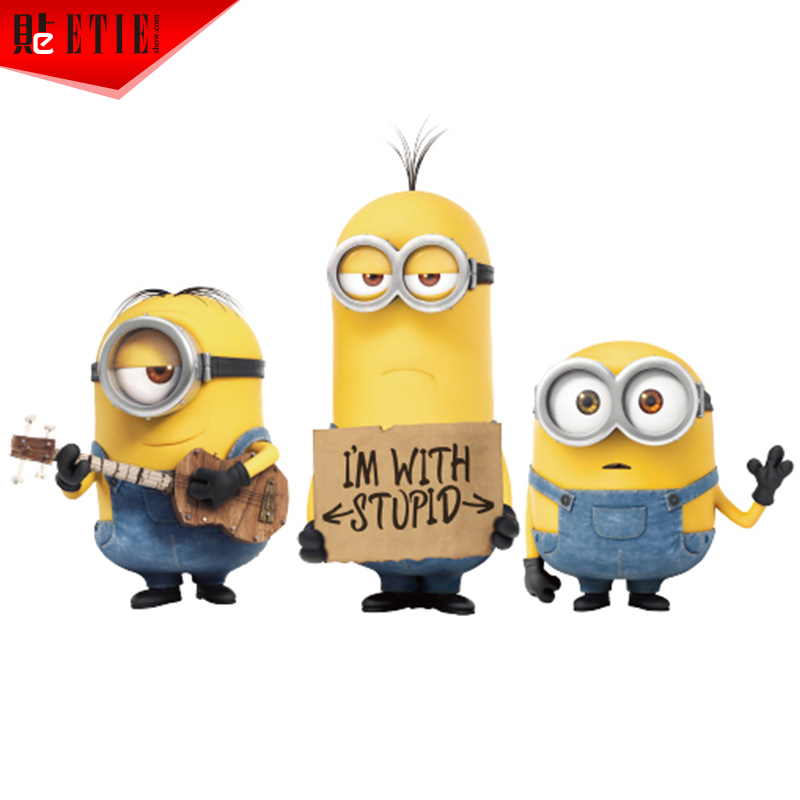 ETIE Minions Sticker M Adhesive Vinyl Decals Car Window Sticker - Minion custom vinyl decals for car