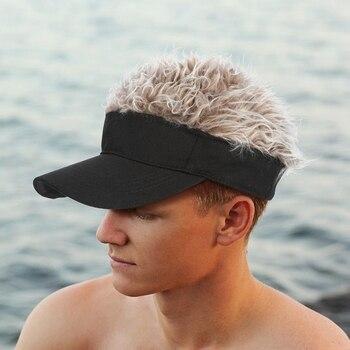 Gorro nuevo unisex, divertido Gorro con visera de pelo falso, gorras de Golf informales, peluca al aire libre, gorra de béisbol, tendencia urbana para padres e hijos al aire libre