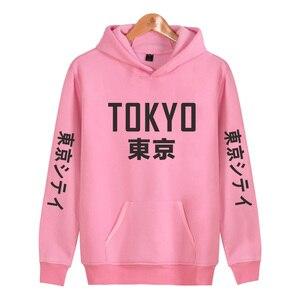 Image 4 - 2019 New Arrival Japan Harajuku Hoodies Tokyo City Printing Pullover Sweatshirt Hip Hop Streetwear 4XL Plus Size Clothing