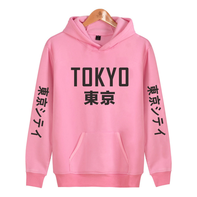 Harajuku Hoodies Tokyo Pullover Hip Hop Streetwear