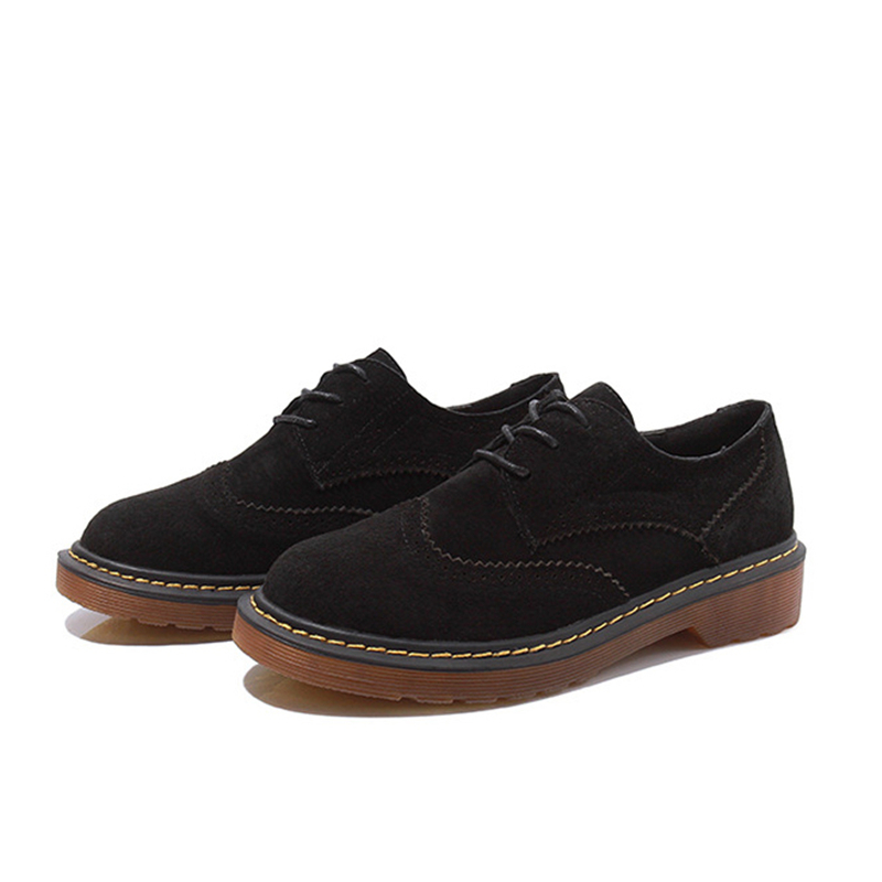 Oxford Appartements bleu Taille gris Chaussures Zapatos Abramenko Plus Mujer Brogue En Femininos Femmes 43 Sapatilhas Cuir Noir Sapatos Véritable wAITF5qT6