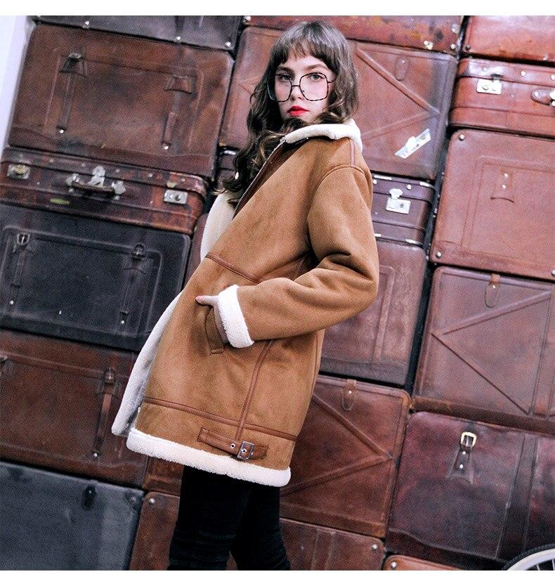 Sheepskin Coat AS3723 Brown 8