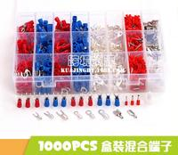 1000Pcs Insulated Crimp Terminals 24Types Kit Electrical Cable Wire Cord Pin End Connectors Spade Fork Ring