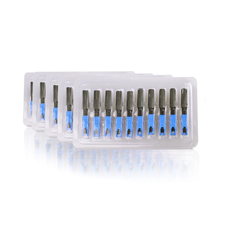 HWCOMM 100 PZ SC UPC Simplex Fibra Ottica FTTH Veloce Connettore Rapido Connettore Rapido Più Caldo Incorporato Spedizione Gratuita-in Attrezzature per fibra ottica da Cellulari e telecomunicazioni su  Gruppo 1