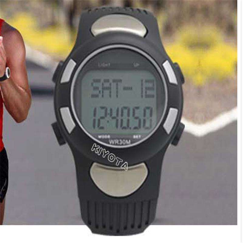 Hot 3D Pedometer Calories Counter Pulse Heart Rate Monitor Men Women Sports GYM Running Hunting Digital Watch Fitness ezon pedometer optical sensor heart rate monitor alarm calories men sports watches digital watch running climbing wristwatch