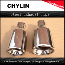 Universal Car Exhaust Muffler Tail Pipe Stainless Steel Chrome Decorative Tip Exhaust Pipe Automobile Accessories Car-styling