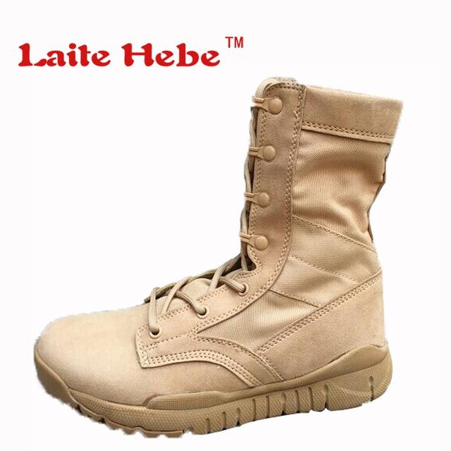 f0a1aa89ec6 Laite Hebe Delta Tactical Hombres Botas Militares de Combate  Norteamericanas Grupo de Arranque Del Desierto Zapatos