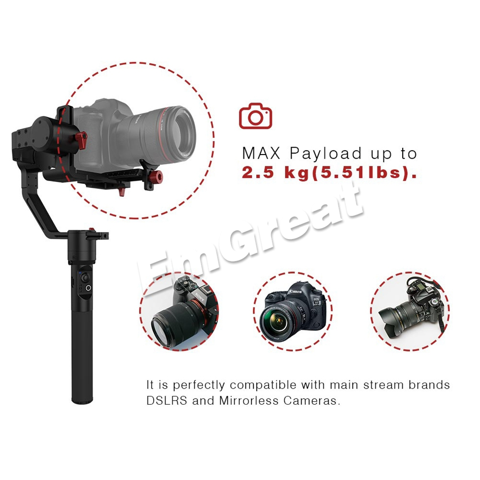 Hohem iSteady Gear 3-Axis Handheld Gimbal Stabilizer Payload 2 5KG for DSLR  Mirroless Camera for Sony A7 PK Zhiyun Crane V2 Plus