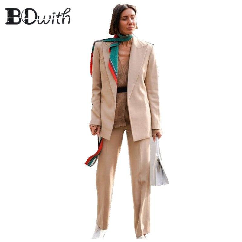 Custom Made 2 Piece Set (Jacket+Vest) Women Elegant Pants Suits Ladies Business Pant Suits Formal Office Suits