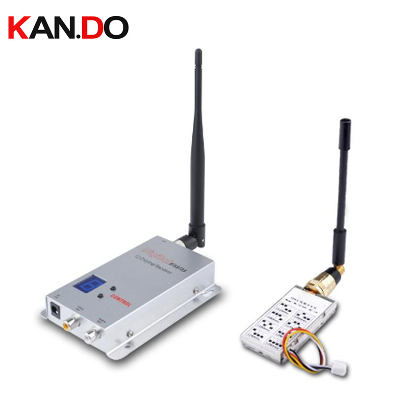 light weight 30g 1.2G 1W wireless video transmission 8CH AV Transmitter 12CH Receiver FPV Combo transmitter no power no packing