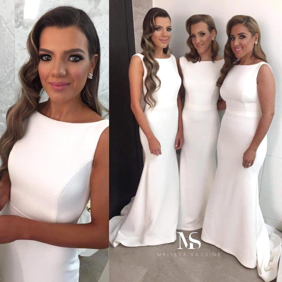 Aliexpress buy top quality white satin mermaid long aliexpress buy top quality white satin mermaid long bridesmaid dresses wholesale cheap women wedding party gowns 2017 fast delivery vestidos from ombrellifo Images