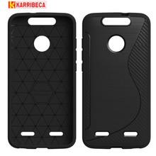 Carbon fiber silicone case For ZTE Blade V8 Lite S line matte brushed tpu cover Blade V8 Lite funda coque etui kryt puzdra tok