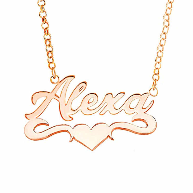616bb684571a4 Personalized Name Necklace Stainless Steel Custom Arabic Name Women Men  Islamic Jewelry Bridesmaid Gift Ketting