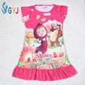 Masha y el oso ropa pijamas vestido de Masha y el Oso niñas niñas ropa de dormir camisón camisón camisón camisón de los niños
