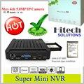 4ch Mini HD Gravador De Vídeo em Rede NVR com ONVIF 5MP IP câmera compatível & motion detection para alarme & multi-gravação por hdd