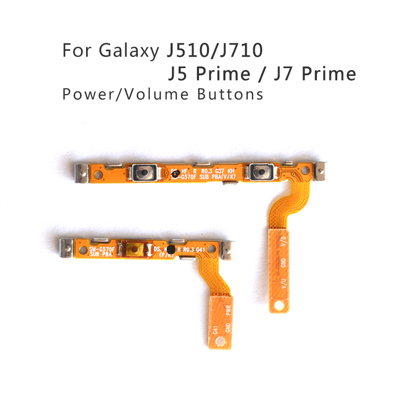 US $0 89 |For Samsung Galaxy J510 J710 Power On/Off Switch Button Flex  Cable Volume Button For Samsung J5 Prime J7 Prime Repair Parts-in Mobile  Phone