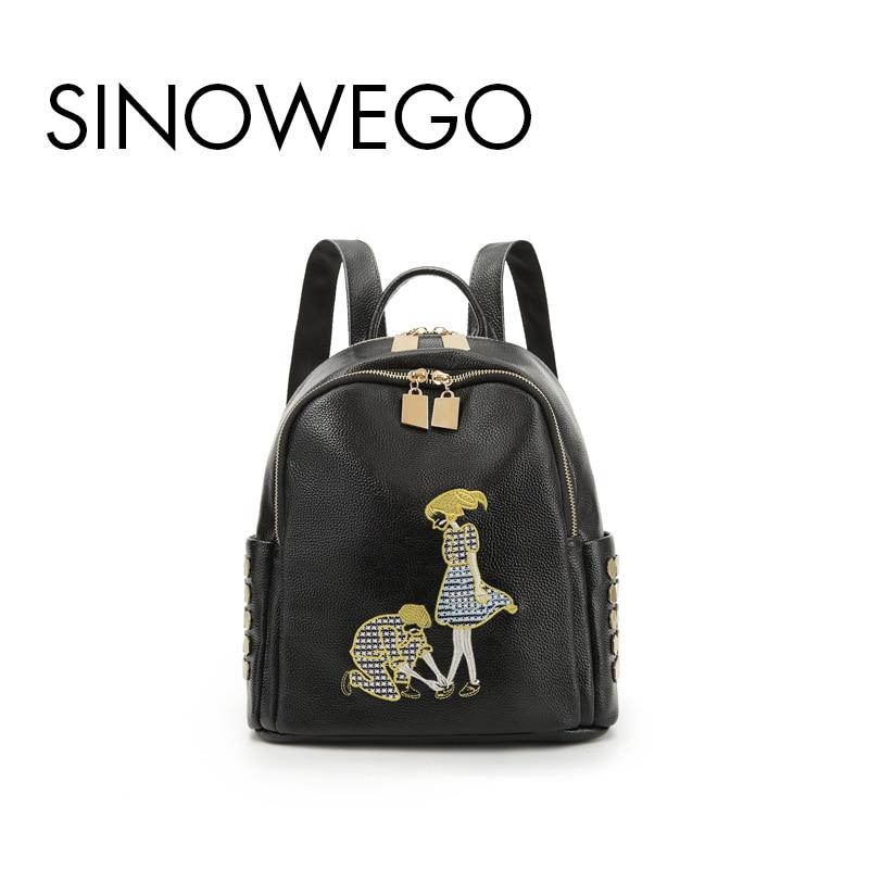 b446560d4f68 2018 New Fashion Love Kanken Backpack Female Backpack Schoolbag Mini  Backpack Women For Girls Genuine Leather