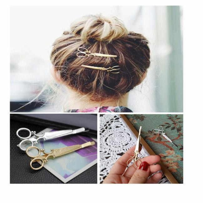 Kreatif Gunting Bentuk Wanita Wanita Gadis Rambut Klip Halus Rambut Pin Rambut Jepit Rambut Aksesoris Dekorasi DROP Shipping @ 3